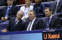 Thierry Braillard avec le président de la FFBAD, Richard Remaud et Philippe Limouzin le DTN