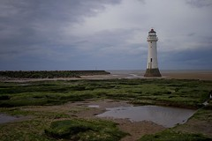 Perch Rock lighthouse Oct 14 (foto.pro) Tags: new sea lighthouse rock sand brighton tide perch wirral