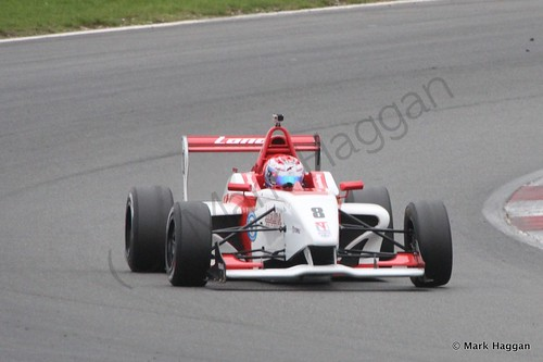 George Russell in BRDC F4 Race 2 at Snetterton, October 2014