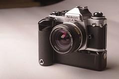 Nikon Film Cameras FE2 FM2 (Philip Osborne Photography) Tags: nikon film cameras fe2 fm2 nikkor 28mm md12 battery grip 35mm