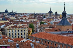 Rooftops, Madrid (GraceKeable) Tags: madrid city travel beautiful architecture spain view rooftops capital