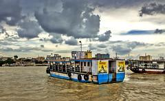 Destination....!! (sandy_photo) Tags: sky india canon eos transport monsoon rivers destination kolkata ganga ganges westbengal ciy