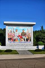 Mural of Kim Il-sung and Kim Jong-il (Ray Cunningham) Tags: mural propaganda north korea dprk coreadelnorte sunan