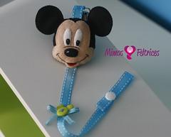 Corrente de chucha Mickey (Mimos & Feltrices) Tags: portugal azul mouse artesanato felt disney mickey bebé feltro boneca menino banho portuguesa