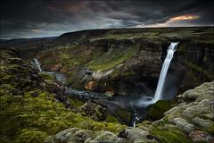 [ ... the hidden treasure ] (D-P Photography) Tags: sunset sun water clouds canon river dark landscape island waterfall iceland highlands deep canyon nd foss haifoss ndgrad leefilters dpphotography