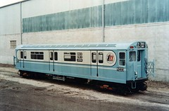 NYCT IRT R33 World's Fair Single Unit 9333, 1963 St. Louis Car Company Press Photo (R36 Coach) Tags: stlouis irt worldsfair smee 1963 presskit pressphoto bluearrow flushingline r33s r33wf