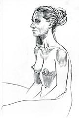 Figure sketching at Redline Denver (paul heaston) Tags: art notebook nude sketch artwork drawing journal sketchbook figuredrawing redline lifedrawing