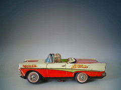 Ford Fairlane 500 Kosuge Co. (zeploctoys) Tags: auto old classic cars ford car japan vintage toy toys tin classiccar vintagecar antique antiquecar battery convertible ve