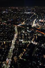 Arteries & Veins (Alonso Reyes) Tags: red tower japan skyline night observation lights tokyo view skyscrapers infinity deck  nippon metropolis  sumida tokio skytree