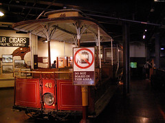 "San Francisco cable car on display • <a style=""font-size:0.8em;"" href=""http://www.flickr.com/photos/34843984@N07/15547372532/"" target=""_blank"">View on Flickr</a>"