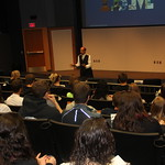 Students listen to an International Business lecture.