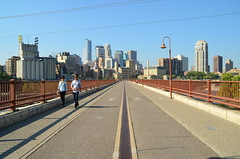 Stone Arch Bridge (jpellgen) Tags: bridge usa fall minnesota architecture america river mississippi nikon midwest downtown minneapolis mpls twincities mn goldmedalflour 2014 stonearchbridge millcity