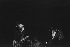 Louis & the Honkytonk @ the Bird (ijarosek) Tags: music white black film 35mm louis live grain delta iso processing push pushed pentacon 3200 ilford praktica honkytonk tl5b 6400 prakticatl5b