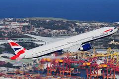 British Airways Boeing 777 (Mark Harris photography) Tags: port aircraft ships boeing botany britishairways