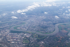 From Above (curiosandknickknacks) Tags: river germany landscapes cities aerial fromabove düsseldorf towns