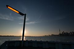 Lights at Sunset (syncros) Tags: sunset toronto docks island cityscape