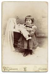 Vefa Lindaurov, Nchod - Girl & Doll (josefnovak33) Tags: girl doll cabinet card vefa nchod lindaurov