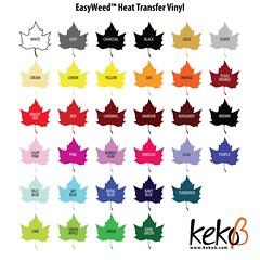 REGULAR HT SWATCHES (kekob.com) Tags: canada silhouette vinyl craft tshirt cameo transfer supplies shipping cutter supply heattransfer cricut easyweed