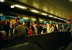 Stockholm T-Centralen station (Analog World Thru My Lenses) Tags: color station subway fuji metro stockholm tube half fujica tunnelbana tcentralen