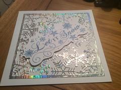 Sparkly snow flake Christmas card (margaret.pilkington47) Tags: sparkly snowflake letitsnow sentiment stamped handmadechristmas