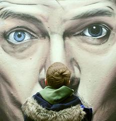 I wonder...... (A child in the night) Tags: child bowie streetart manchester northernquarter portraits wonder mac sheepdog