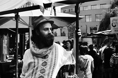 Camden Character (Robert Bosson) Tags: camdentown london camdenlock beard hipsterbeard kodaktmaxfilm tmaxfilm tmaxphotograph blackandwhitefilm canonrangefinder canonprangefinder vintagecanoncamera