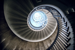 The dark spiral (Pat Charles) Tags: london england unitedkingdom uk travel tourism city architecture urban exploration spiral fibonacci stairs staircase handle interior inside indoor lights snail nikon heal heals department store shop shops shopping 1001nights 1001nightsmagiccity
