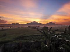 Sun shines of a sunrise behind mountains (hastuwi) Tags: magelang idn centraljava geotagged bandongan sunrise