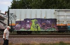 Natas (quiet-silence) Tags: graffiti graff freight fr8 train railroad railcar art natas ctk boxcar mwcx miniridge mwcx500396