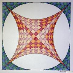 20160204 (regolo54) Tags: geometry symmetry pattern square string art mathart regolo54 handmade evolution progression