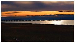 Day 298 - The Pier at Iona Beach (Free 2 Be) Tags: project365 pier yvr light water vancouverairport pacificocean afternoon sunset photoaday dailyphoto dramatic golden 365 116photosin2016 ionabeach postaday goldenhour