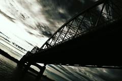 dark bridge (David Sebben) Tags: centennial bridge davenport iowa dark mississippi river