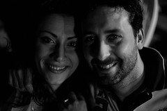 Smile (Duccio Teufel) Tags: girl woman guy boy night summer italy bw monochrome canon 5d markiii 50mm