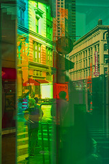Color of Autumn 2016 In NYC (Colorful Imagery Of Manhattan View) (nrhodesphotos(the_eye_of_the_moment)) Tags: dsc0186872 theeyeofthemoment21gmailcom wwwflickrcomphotostheeyeofthemoment autumn season manhattan nyc colors reflections shadows artistic impressionistic metal glass people windows signs shoppers lines impressionist outdoor creative mirrorimage colorofautumn2016innyc bright