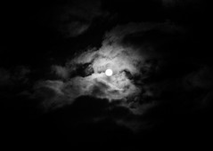 Full Moon (Jon Cartledge) Tags: olympus m43 omd em5 moon outside clouds dusk sunset darkness m45mm f18 45mm mono peak landscape dark giant full fullmoon bw white black luminous glow night bright