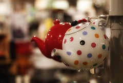 seeing spots... (s@ssyl@ssy) Tags: teapot polkadots spots dots colour stratford ontario photowalkwithaflickrfriend shop store kitchengadgets