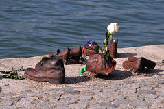 Shoes on the Danube bank (philk_56) Tags: budapest hungary shoes river danube bank sculpture memorial cantogay