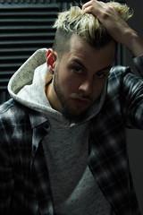 IMG_0757 (sabrinafvholder) Tags: man male hat hipster studio portrait young givenchy sabrinavazholder