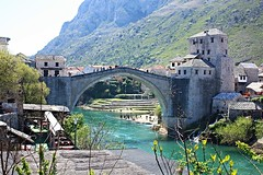 Mostar Bridge (cannoner) Tags: mostar bridge ottoman bosnia herzegovina bosna tarih history historical world heritage unesco canonxsi