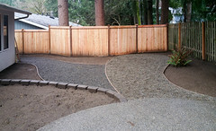 20160129_125028 (ajbservice) Tags: concrete patio retainingwall woodfence