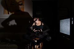 Black Swan (Tudor A. Parau) Tags: green halloween costume black blackswan swan eerie spooky scary disturbing ballerina halloween2016 dark room movie montreal nikon d750 sb800 godox x1 24mm d f28