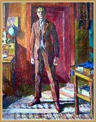"Diego Giacometti painted by his brother in ""Picasso - Giacometti"" exhibition, Paris Picasso Museum (Sokleine) Tags: giacometti painting tableau peinture exhibition exposition muse museum musepicasso picassogiacomettiexhibition heritage modernart paris 75004 france colours homme man brother frre interior"