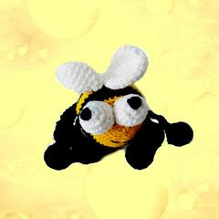 crochet_bee_on_therapy_ball_by_eastfolk (eastfolk) Tags: crochet bee organic cotton stuffed animals handmade baby kids eco friendly motoric skills development amigurumi therapy hand ball stress relief