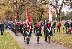 20161111_0041_1 (Bruce McPherson) Tags: brucemcphersonphotography remembranceday southmemorialpark southmemorialparkcenotaph cenotaph vancouverpolice vpd cadets marchpast march marching autumn fall fallleaves memorial vancouver bc canada