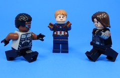 He's My Best Friend (MrKjito) Tags: lego minifig marvel captain america civil war super hero falcon sam wilson bucky barnes winter solider steve rodgers right best friend