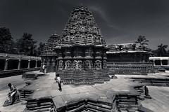 South Side View in Monochrome (bikashdas) Tags: chennakesava somnathpura mandyadistrict chennakesavatemple hoysala hoysalaarchitecture