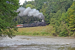 Steam and the Cuyahoga River (craigsanders429) Tags: nickelplateroad765 nkp765 nkp765oncvsr nkp765inpittsburgh nickelplate765 cuyahogavalleyscenicrailroad cuyahogavalleynationalpark cuyahogariver water rivers steamlocomotives steamtrains steamexcursions steamtrain steamonthecvsr