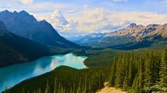 Peyto Lake, Alberta (rayvansjjo) Tags: montains nature outdoor peytolake lake valley sky