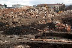 Sony A230 + MIR-1V - Demolition of Vlněna 10 (Kojotisko) Tags: sonyalphaa230 mir1v37mmf28 mir1v mir1b legacylenses legacylens brno industrial demolition ruins czechrepublic czechia creativecommons