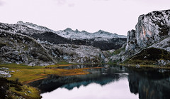 Lagos de Covadonga (.Lara.*) Tags: reflejos reflectionsinthewater lagos covadonga lakes picosdeeuropa montaa asturias mountain spain espaa nature naturaleza water agua cold frio paraisonatural naturalparadise airelibre paisaje landscape